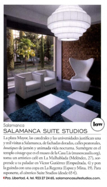Salamanca Suite Studios in Elle´s Magazine International Top List!